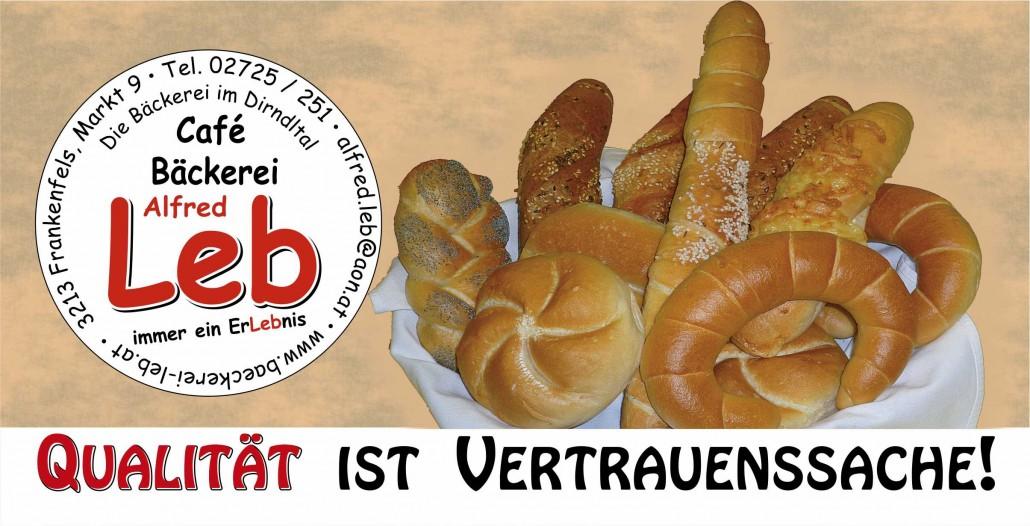 Qualität ist Vertrauenssache: Bäckerei Alfred Leb